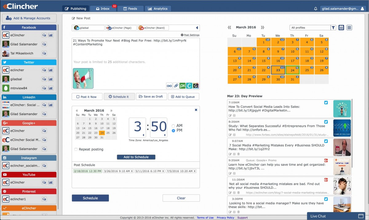 eClincher Review: The New Social Media Marketing Tool In Town