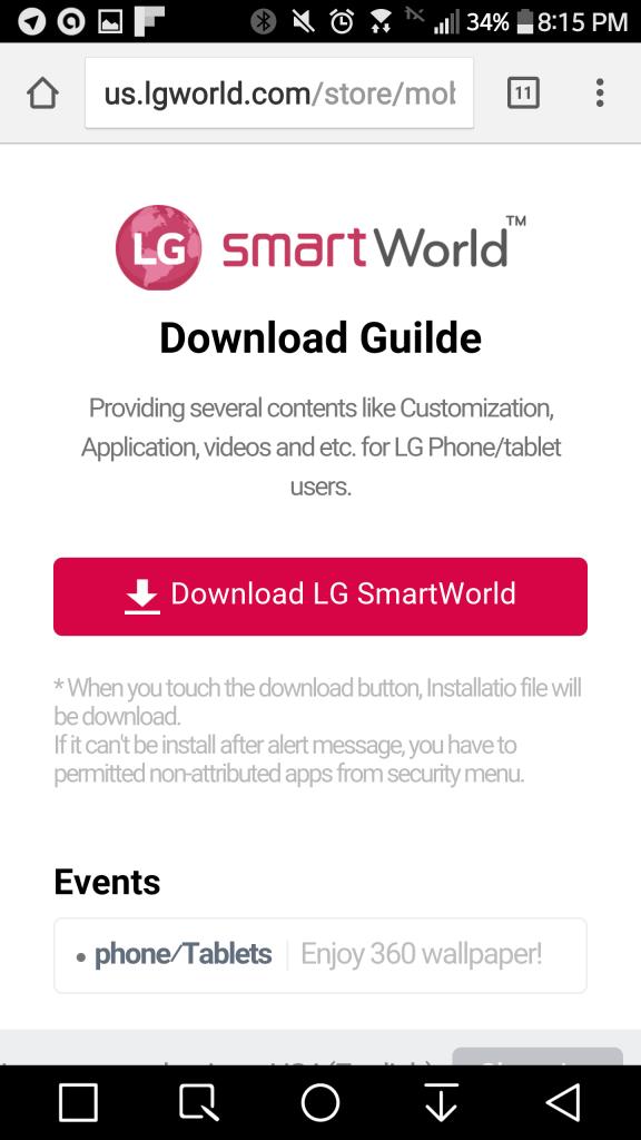 LG G5 SmartWorld