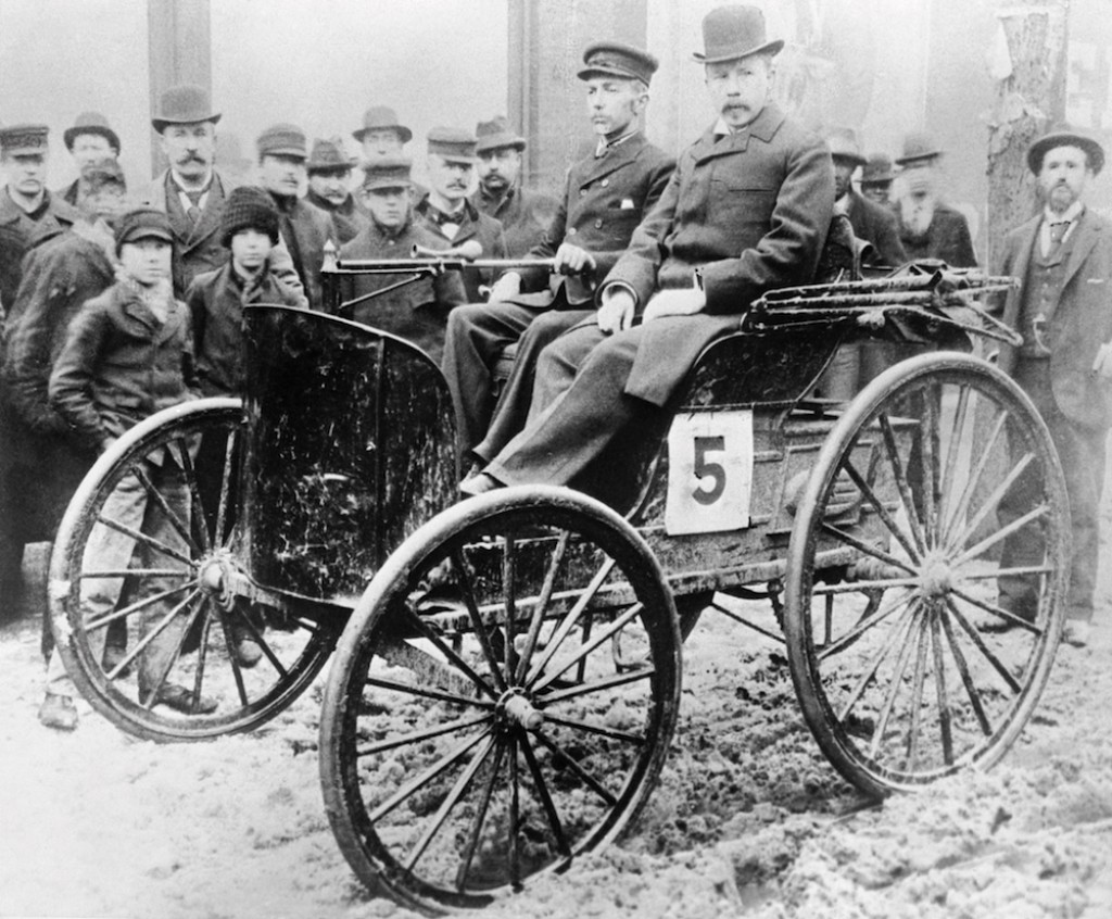 J. Frank Duryea in First Racecar