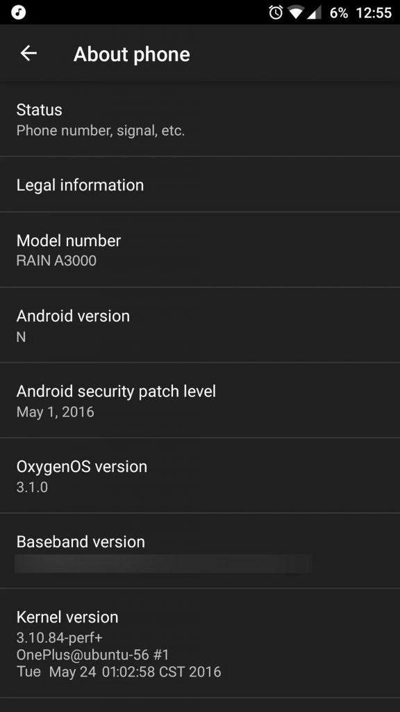 OnePlus 3 info