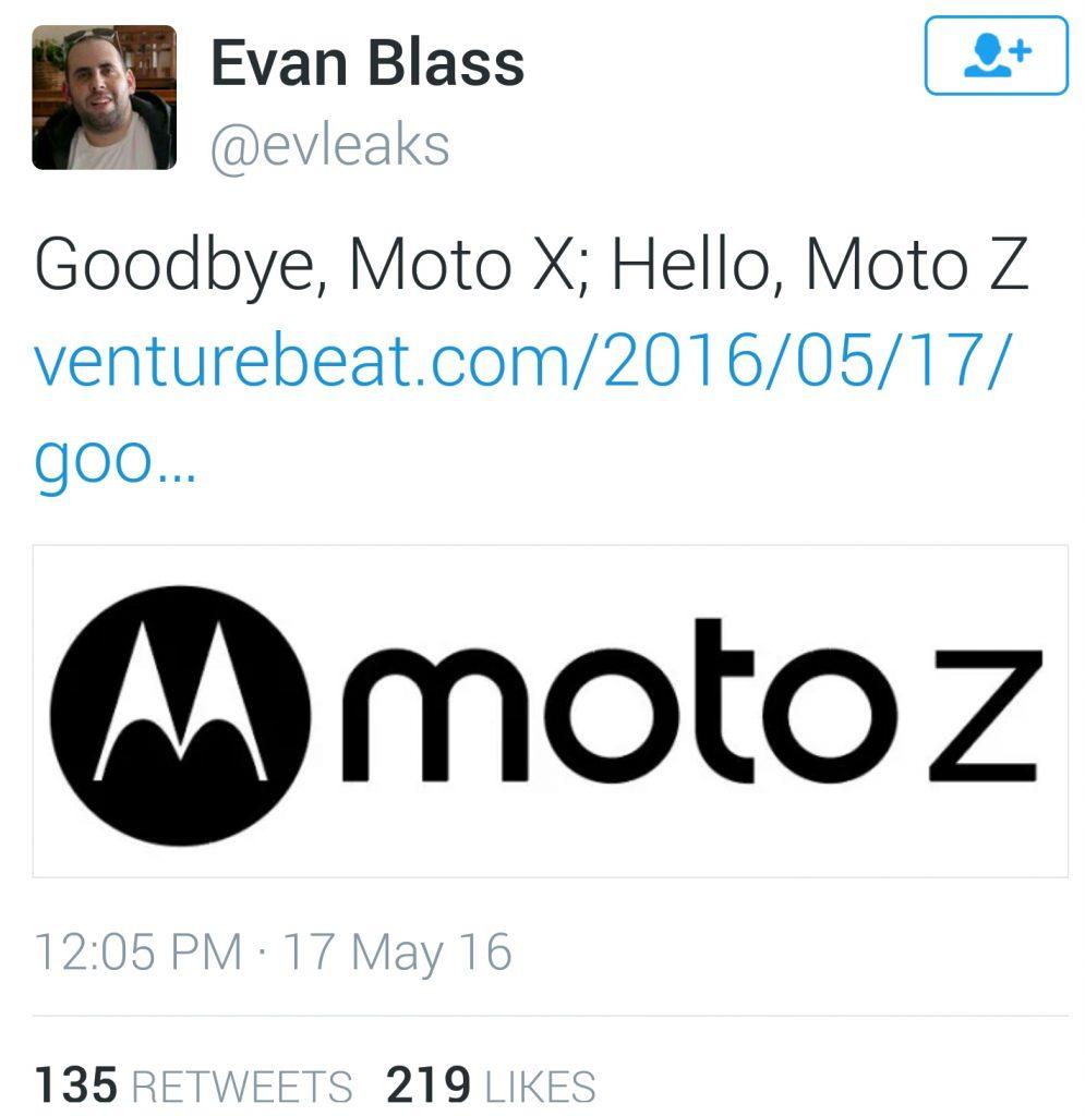 Moto X becomes Moto Z