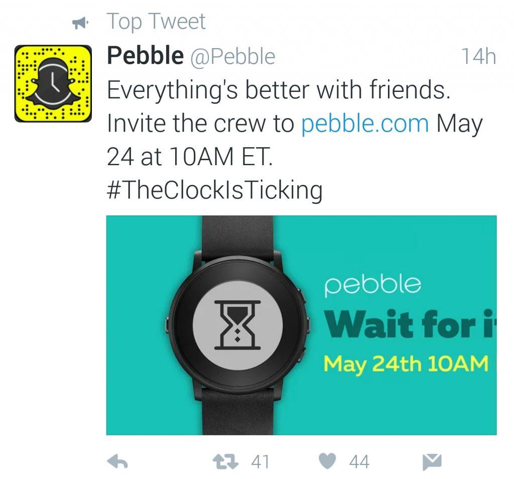 Pebble Twitter suspense