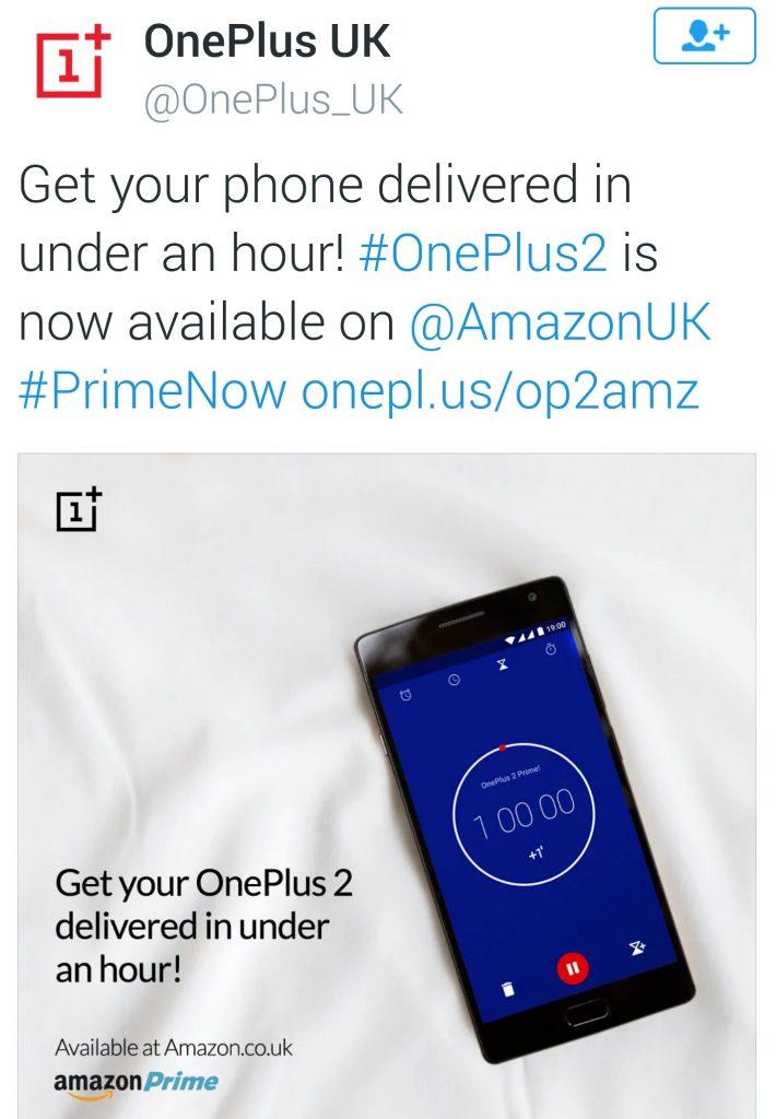 OnePlus 2 coming to UK via Amazon