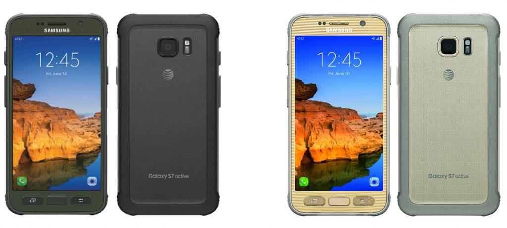Galaxy S7 Active colors black desert camo