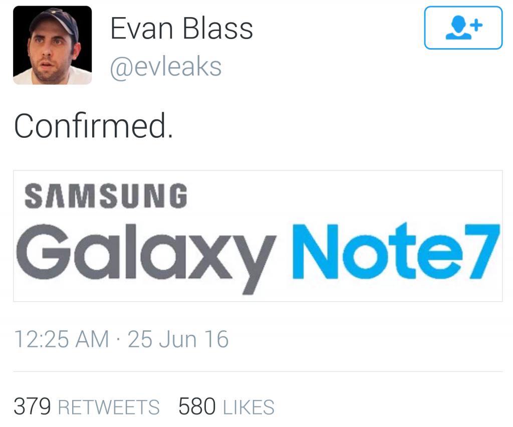 Galaxy Note 7 moniker confirmed