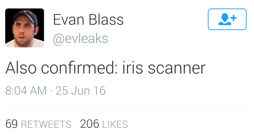 Galaxy Note 7 eye scanner evleaks confirmation