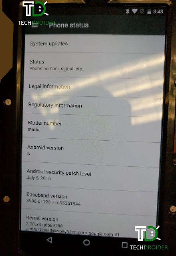 HTC Nexus Marlin first photo