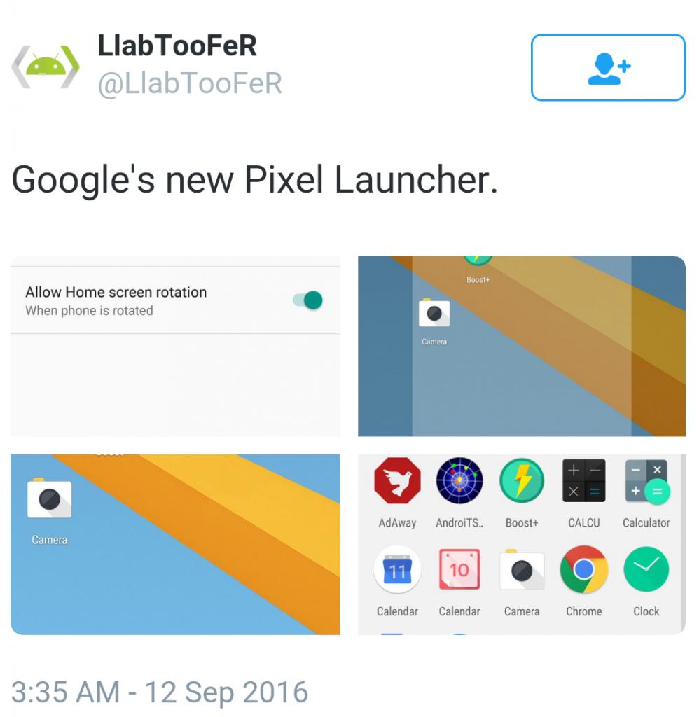 Pixel Launcher mosaic
