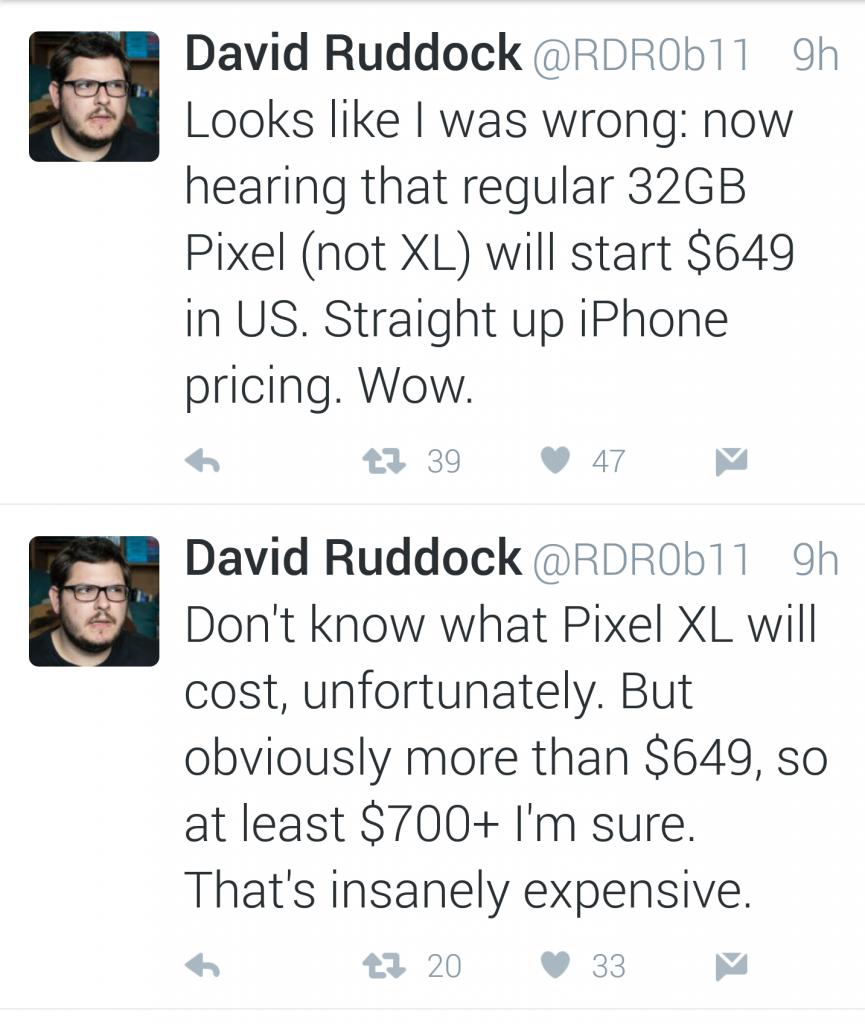 Google Pixel pricing