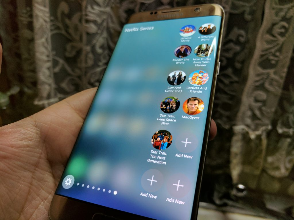 Galaxy S7 edge Netflix edge