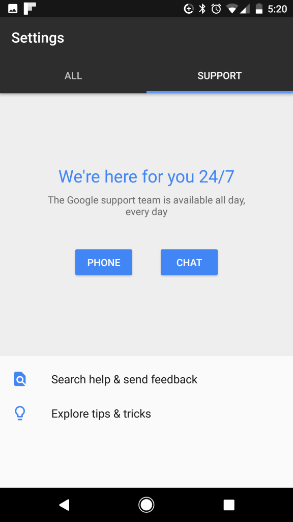 Pixel XL chat support