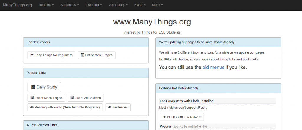 sites like manythings.org