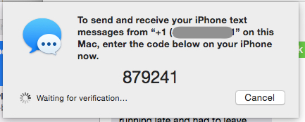 Activation Code for Text Message Forwarding - What to do if