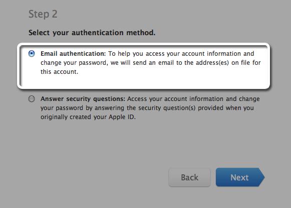 change apple id password reset email