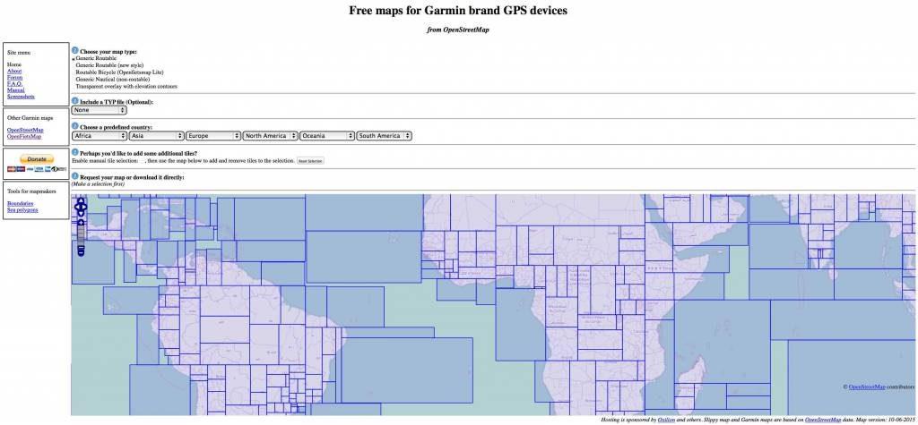 Open Street Maps for Garmin