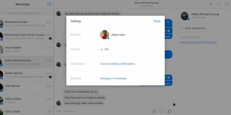 Facebook launches web version of messenger app for desktop users