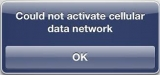 """How to fix """"could not activate cellular data network"""" on iPod and iPad"""