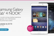 Nook and Samsung announces Samsung Galaxy Tab 4 Nook