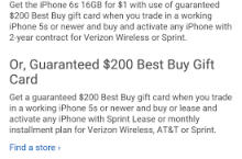 Get the iPhone 6s for just $1 down at Best Buy through tomorrow